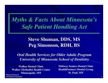 Myths & Facts About Minnesota's Safe Patient Handling Act