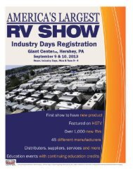 Complimentary Show Registration for Dealers & Campgrounds
