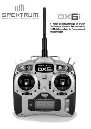 6 Kanal Fernsteueranlage in DSM2 Technologie ... - Horizon Hobby