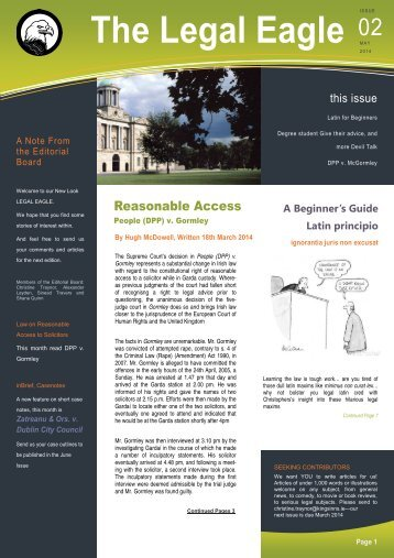 The Legal Eagle Issue 2 2013-2014