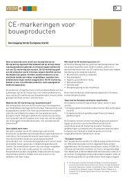 CE-markeringen voor bouwproducten