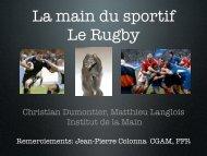 Main du sportif: rugby C. Dumontier - ClubOrtho.fr