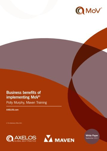 Business benefits of implementing MoV™ White Paper - Best ...