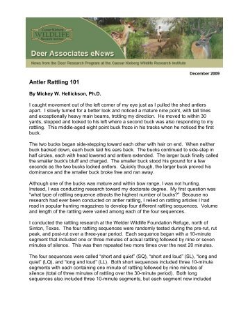 When managing for white-tailed deer, maintaining a habitat that ...