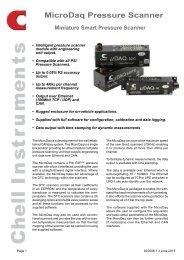 MicroDaq Data Sheet - Chell Instruments Limited