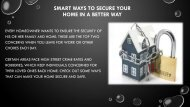 Smart Ways to Secure Your Home in a Better Way