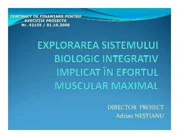 explorarea sistemului biologic integrativ implicat in