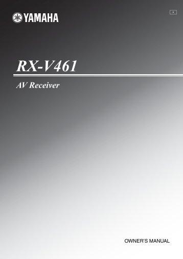 RX-V461 AV Receiver - Yamaha