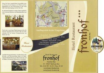 PROSPEKT - Hotel Restaurant Fronhof
