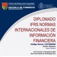 Diplomado IFRS Normas Internacionales de Información ... - Altavoz