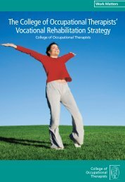 Vocational Rehabilitation Strategy - College of Occupational ...
