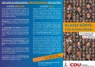 Ortsratsflyer für Altenlingen - CDU Kreisverband Lingen