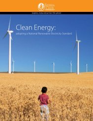 Clean Energy: - Sierra Club – Ohio Chapter