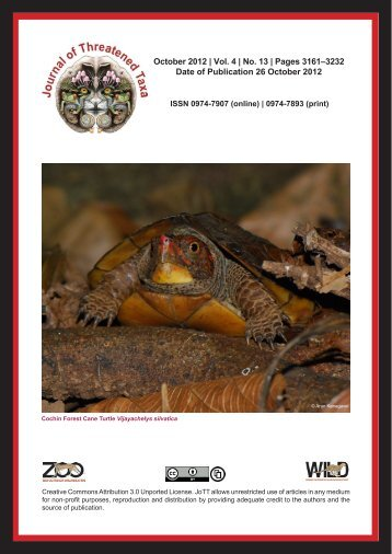 October 2012 - Journal of Threatened Taxa