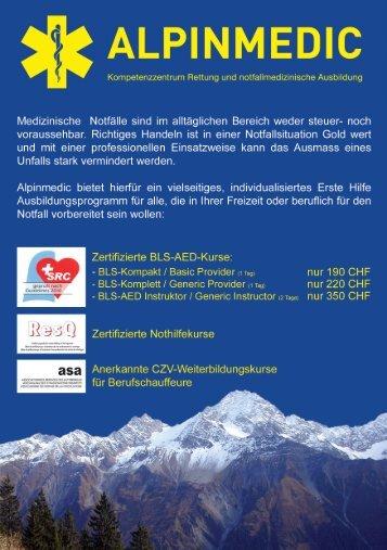 Flyer allgemein - Alpinmedic