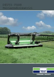 falciacondizionatrici deutz fahr - Attrezzature Agricole
