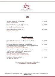 Speisekarte als PDF - Hotel Litz