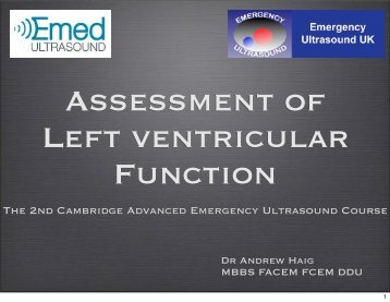 Assessment of Left ventricular Function - Emergency Ultrasound