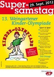 Flyer Kinderolympiade - Weingarten.IN