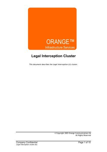 Legal Interception cluster.pdf - Parent Directory
