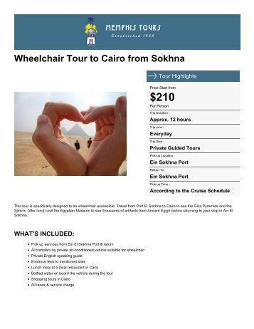 Wheelchair Tour to Cairo from Sokhna - Memphis Tours Egypt