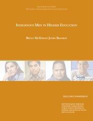 INDIGENOUS MEN IN HIGHER EDUCATION