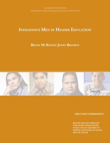INDIGENOUS MEN IN HIGHER EDUCATION
