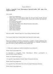 Jegyzőkönyv a Képviselő-testület 2009. 05. 14-én megtartott üléséről
