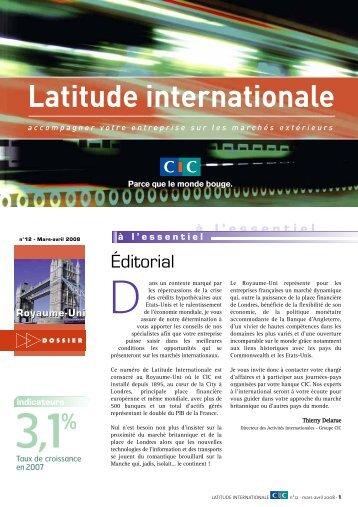 Latitude Internationale n°12 - CIC