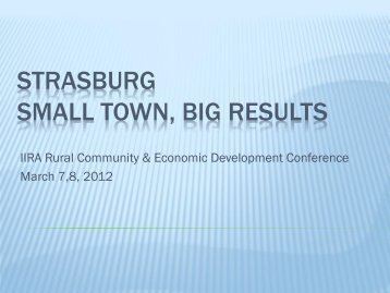 Maintaining Successful Local Development in Small Towns Kull