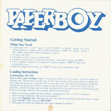 Paperboy Manual - Virtual Apple