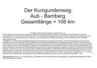 Der Kunigundenweg Aub - Bamberg ... - Landkreis Bamberg