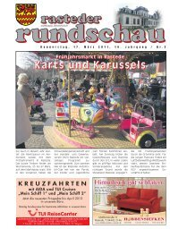 rasteder rundschau, Ausgabe März 2011