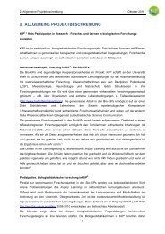 2. allgemeine projektbeschreibung - AECC-Bio - Universität Wien