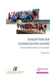 KONZEPTION DER EVANGELISCHEN JUGEND