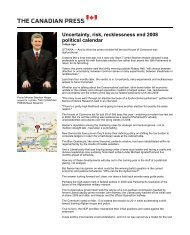 Uncertainty, risk, recklessness end 2008 political ... - Nanos Research