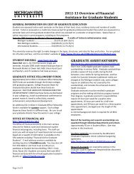2012-13 Overview of Financial Assistance for Graduate Students ...