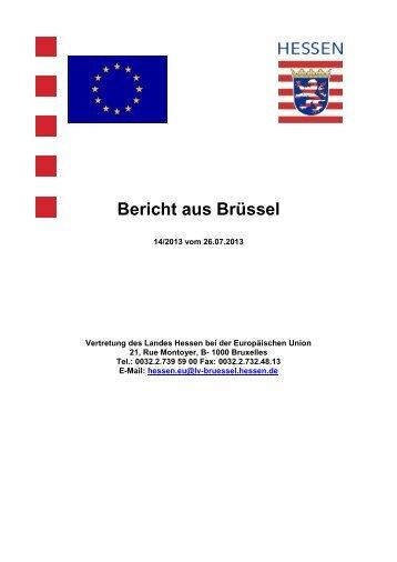 Bericht aus Brüssel - SGK Hessen