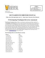 2013 washington brewers festival - Washington Beer Commission