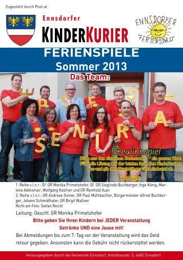 KINDERKURIER - Gemeinde Ennsdorf