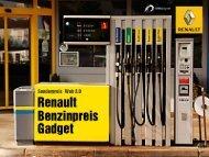 """Einreichung """"Renault Benzinpreis-Gadget"""" - Web Ad"""