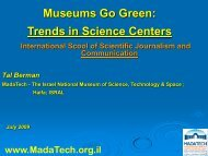 Energy Goes Green: Trends in Science Centers