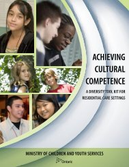achieving cultural competence - Ministry of Children and Youth ...