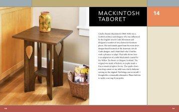 MACKINTOSH TABORET 14