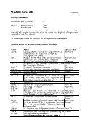 Ablaufplan Abitur 2013