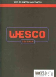 Wesco Abu Dhabi Brochure - Weir Oil & Gas Division