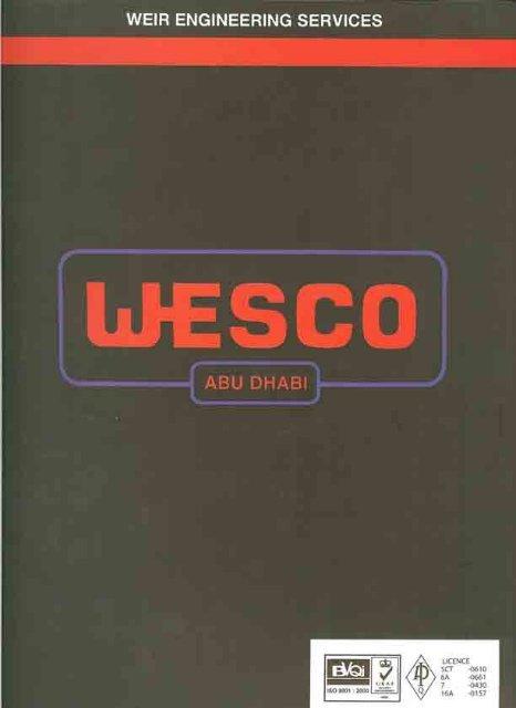Wesco Abu Dhabi Brochure - Weir Oil & Gas Division