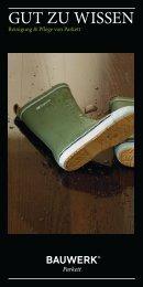 Allgemeine Pflegeanweisung - Parkett Wanke • Bodenpflege und