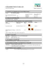 Säkerhetsdatablad (MSDS) (67.3 KB - pdf) - Jula