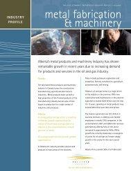metal fabrication & machinery - Palliser Economic Partnership